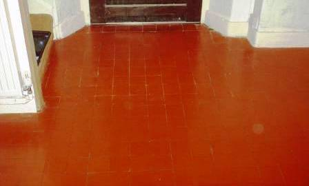 Click to Enlarge - Quarry Tile Floor After Cleaning and Sealing