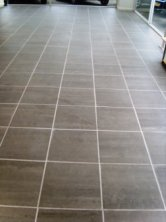 Before Picture - Grout Colour changed on car showroom floor by Tile Doctor Lancaster
