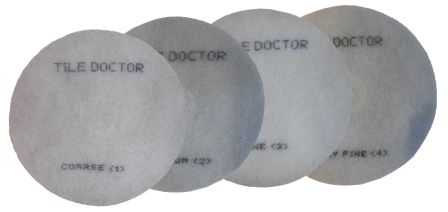 Tile Doctor Quad pack of four six inch burnishing pads for polished stone worktops