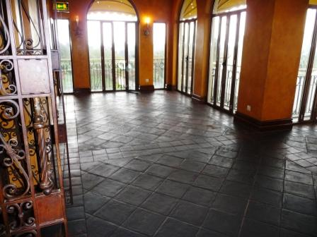 Terracotta Restaurant floor before cleaning and sealing