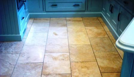 Travertine Floor before Cleaning and Sealing